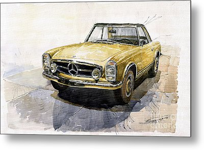 Mercedes Benz W113 Pagoda Metal Print by Yuriy  Shevchuk