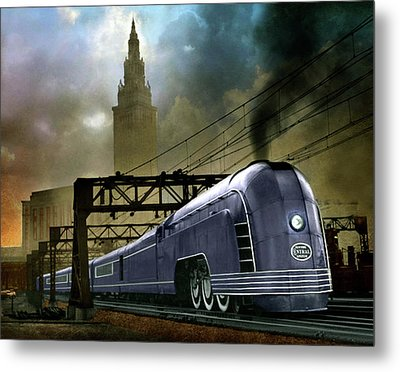 Mercury Train Metal Print by Steven Agius