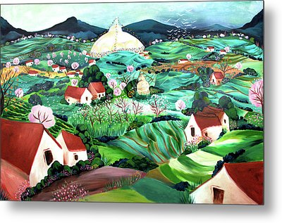 Meredith's Valley Metal Print by Tatjana Krizmanic