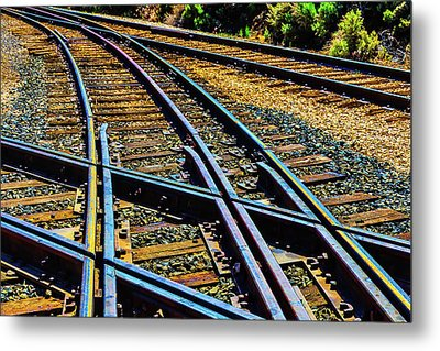 Merging Tracks Metal Print