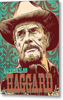 Merle Haggard Pop Art Metal Print by Jim Zahniser