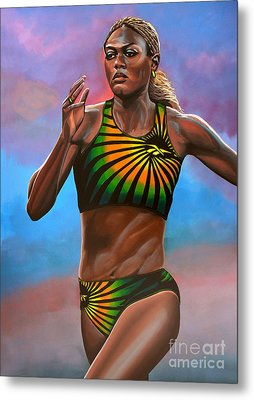 Merlene Ottey Metal Print by Paul Meijering