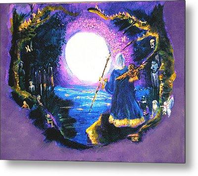 Merlin's Moon Metal Print by Seth Weaver
