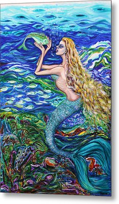 Mermaid Fishnet  Metal Print
