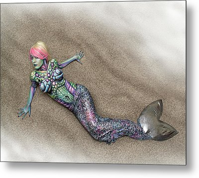 Mermaid On The Shore Metal Print by Bryan Crump