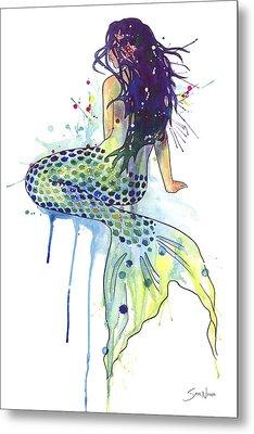 Mermaid Metal Print by Sam Nagel