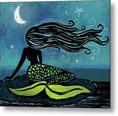 Mermaid Song Metal Print by Little Bunny Sunshine