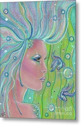 Mermaid Warrior Metal Print by Renee Lavoie