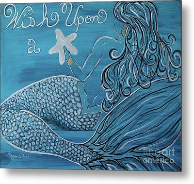 Mermaid- Wish Upon A Starfish Metal Print