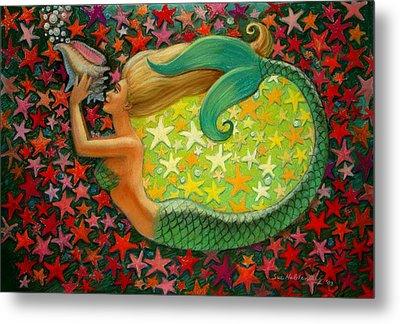 Mermaid's Circle Metal Print