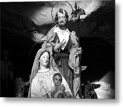 Merry Christmas - Black And White Metal Print by Stefano Senise