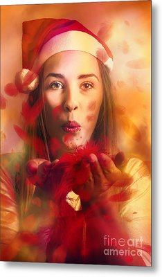 Merry Christmas Elf Metal Print by Jorgo Photography - Wall Art Gallery