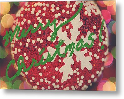 Merry Christmas Metal Print by Laurie Search