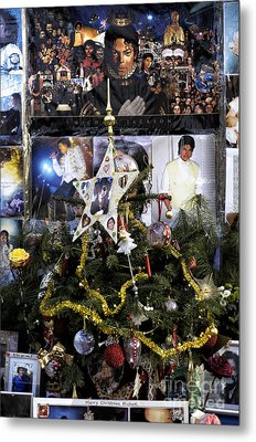 Merry Christmas Michael Jackson Metal Print by John Rizzuto