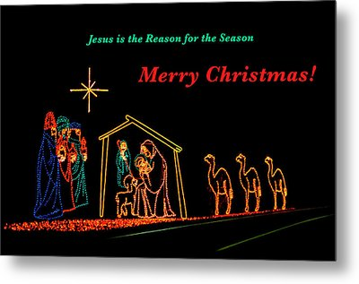 Merry Christmas Metal Print by Penny Lisowski