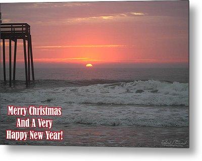 Merry Christmas Sunrise  Metal Print