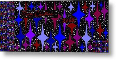 Merry Christmas To All, Starry, Starry Night Metal Print by Linda Velasquez