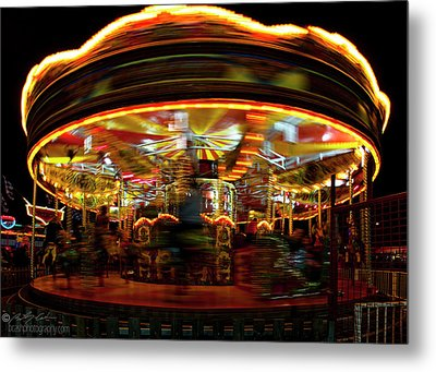 Merry-go-round Metal Print by Beverly Cash