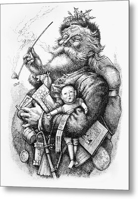 Merry Old Santa Claus Metal Print