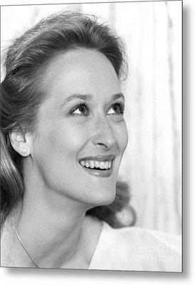 Meryl Streep (b.1949) Metal Print by Granger