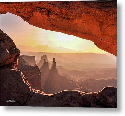 Mesa Arch At Sunrise, Washer Woman Formation , Canyonlands National Park, Utah Metal Print