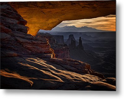 Metal Print featuring the photograph Mesa Arch Glow by Jaki Miller