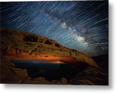 Mesa Star Storm Metal Print by Darren White