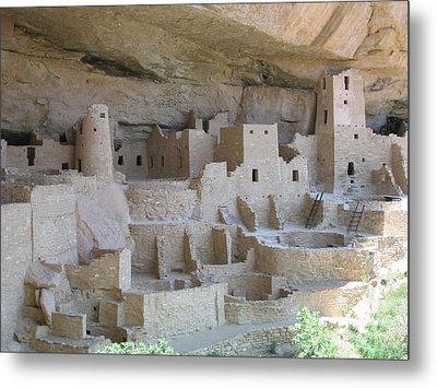 Metal Print featuring the digital art Mesa Verde Community by Gary Baird