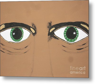 Metal Print featuring the painting Mesmerized Eyes by Jeffrey Koss