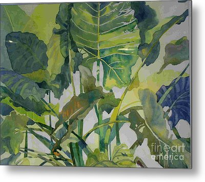 Metal Print featuring the painting Mess Of Greens by Elizabeth Carr