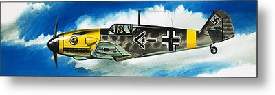 Messerschmitt Fighter Metal Print by Wilf Hardy