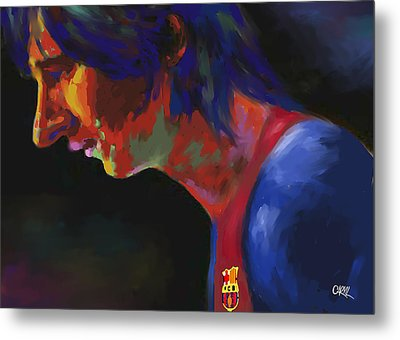 Messi Metal Print by Carvil