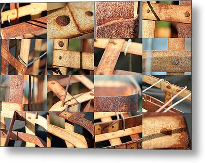 Metal Baskets Metal Print