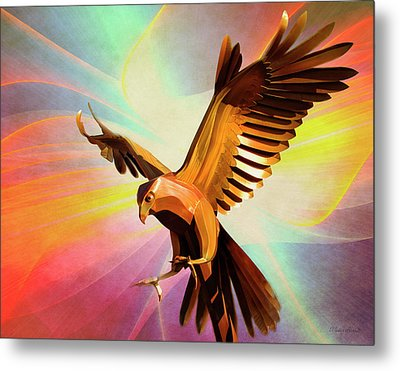 Metal Bird 1 Of 4 Metal Print