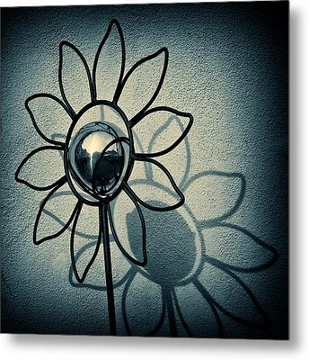 Metal Flower Metal Print by Dave Bowman