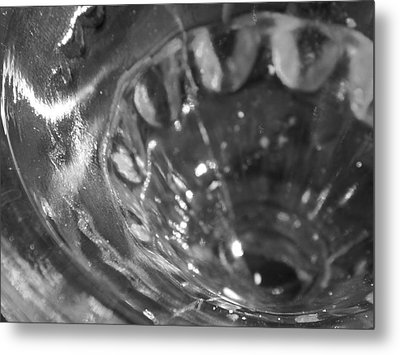 Metallic Glass Metal Print