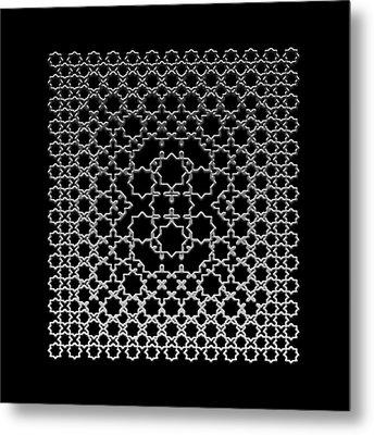 Metallic Lace Axxxv Metal Print by Robert Krawczyk