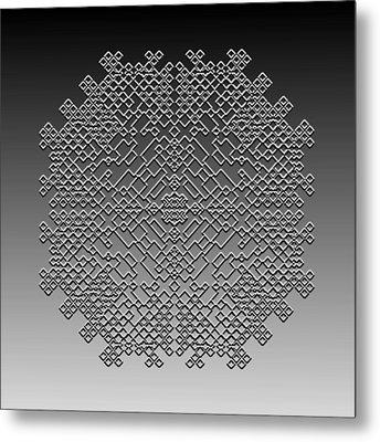 Metal Print featuring the digital art Metallic Lace Cxxix by Robert Krawczyk