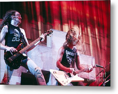 Metallica 1986 Cliff And James Metal Print by Chris Walter