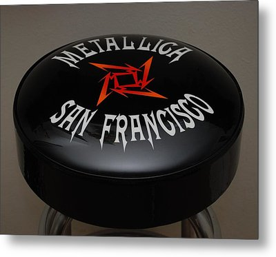 Metallica Bar Stool Metal Print by Rob Hans