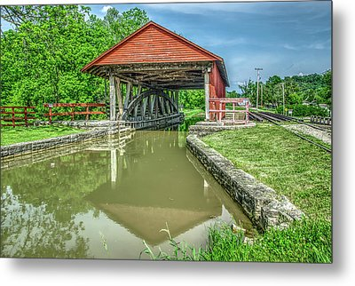 Metamora Indiana Aqueduct And Whitewater Canal Metal Print by Ina Kratzsch