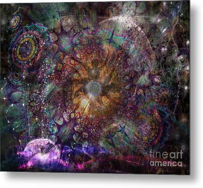 Metal Print featuring the digital art Metamorphignition by Rhonda Strickland