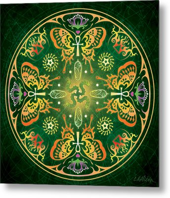 Metamorphosis Mandala Metal Print by Cristina McAllister