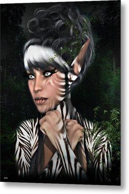 Metamorphosis Zebra Metal Print by G Berry