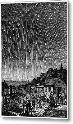 Meteor Shower, 1833 Metal Print