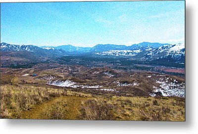 Methow Valley From Above Winthrop Landscape Photography By Omash Metal Print by Omaste Witkowski