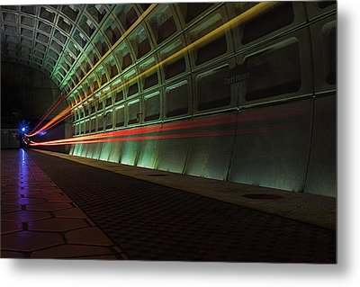 Metro Lights Metal Print
