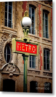 Metro Metal Print by Olivier Le Queinec
