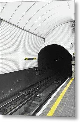 Metro Train Station Metal Print