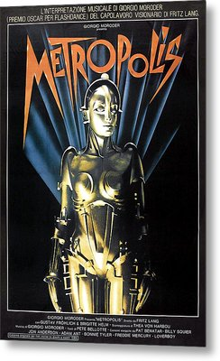 Metropolis, 1927 Poster For 1984 Metal Print by Everett